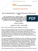 Polo Prl Usa Holdings Inc v. United States Polo Association Inc - Us 2nd Circuit
