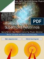 Georg Raffelt- Physics Opportunities with Supernova Neutrinos