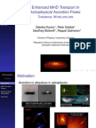 Zdenka Kuncic et al- Enhanced MHD Transport in Astrophysical Accretion Flows