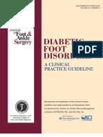 Frykberg RG, Et Al. Diabetic Foot Disorders.