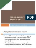 PJM 3116 Topik 3 Prosedur Penyelidikan Pendidikan