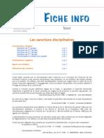 FICHE INFO 4 - Les Sanctions Disciplinaires
