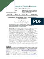 Reflexiones Conceptos Politicas Publicas Educacional