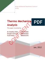 Thermomechanical Analysis
