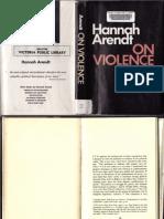 Hannah Arendt-On Violence (Part)