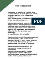 POLITICA DE SEGURIDAD