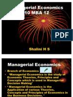 Managerial Economics-1 Sem