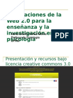 Implicaciones de la web 2.0 para la psicología