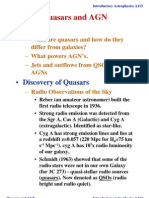Introductory Astrophysics A113- Quasars and AGN