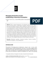 Destination Brand Literature Review
