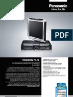 Especificaciones Panasonic Cf19