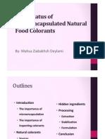 Halal Status of Microencapsulated Natural Food Colorants