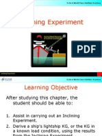 Inclining Experiment