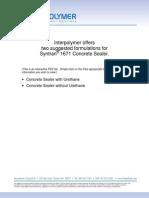 Concrete Sealer Formula