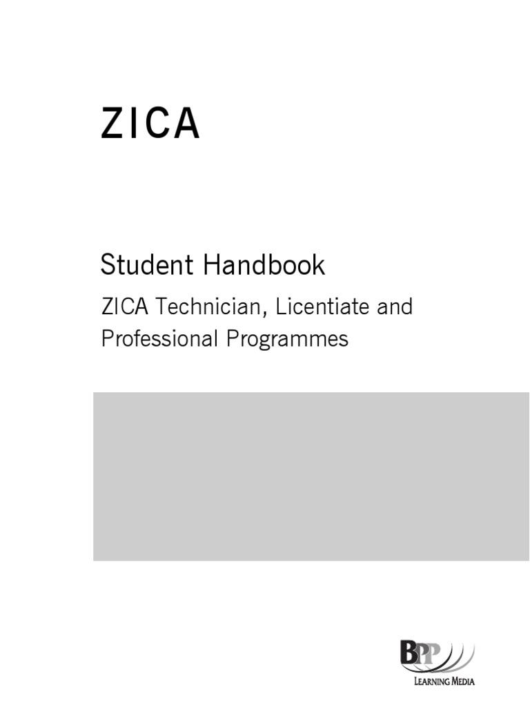 zica student handbook new 2012 syllabus audit taxes rh scribd com