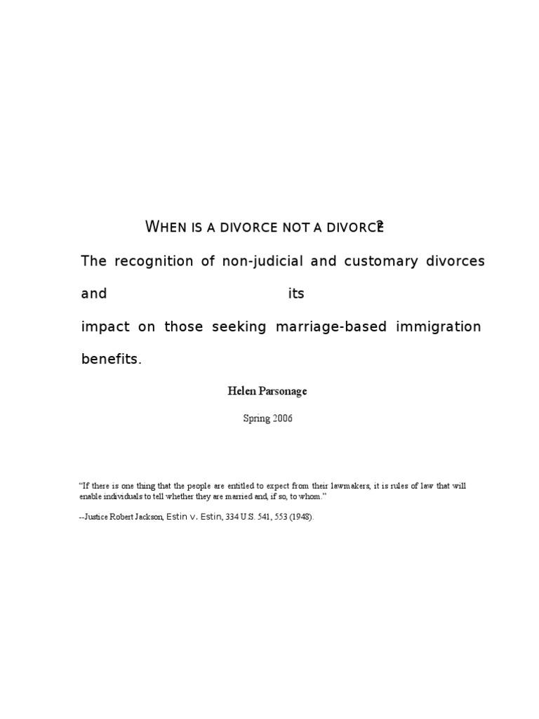 customary divorce is valid