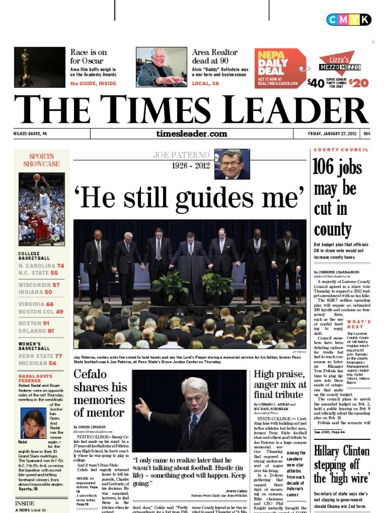 Times Leader 01 27 2012 Newt Gingrich Mitt Romney Tony Perotti Sneakers Abriel Black