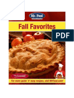 Mr Food Fall Favorites eCookbook