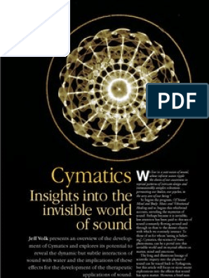 Cymatics - Insights into the Invisible World of Sound by