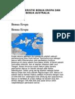 Karakteristik Benua Eropa Dan Benua Australia