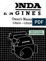 Honda GX610 Owners Manual