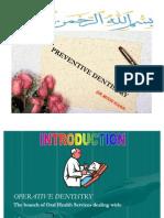 Operative Dentistry Prevention Lecture 2
