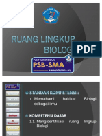 KD 1.1 Mengidentifikasi Ruang Lingkup Biologi