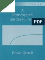 Silvio Gesell - A Természetes Gazdasági Rend teljes pdf könyv letöltés