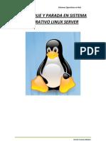 Arranque y Parada en SO Linux Server