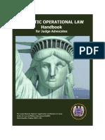 Domestic Operational Law Handbook for Judge Advocates, 2009