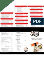 Carta de Productos Sushi Place