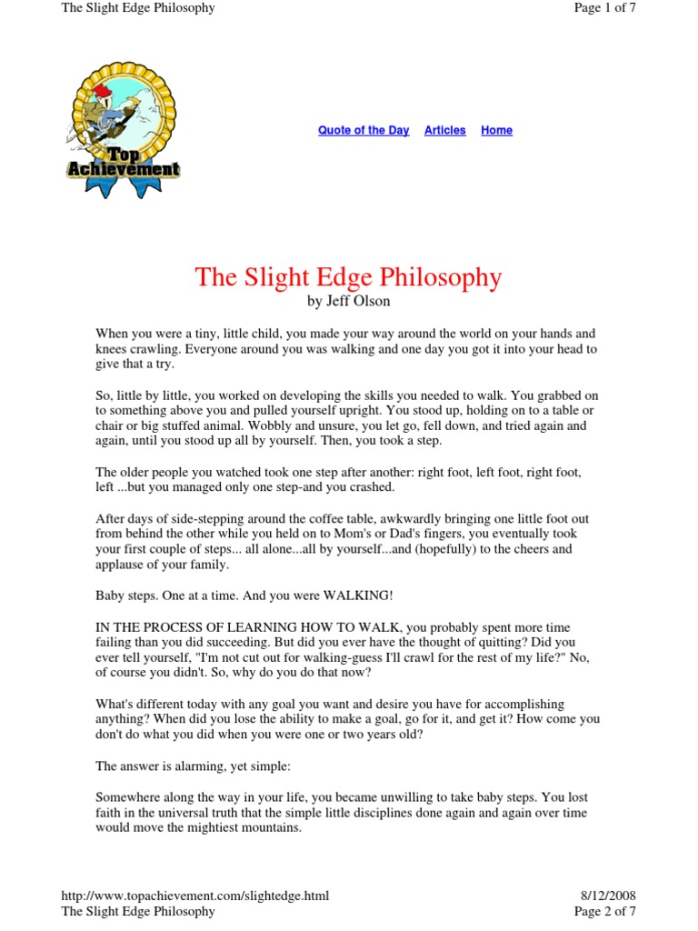 the slight edge summary pdf