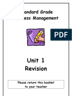 SGBM Revision Homework Unit 1