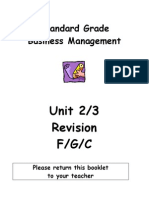 SGBM Revision Homework Units 2-3 Additional PPQs