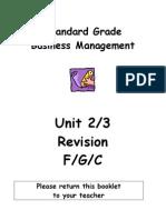 SGBM Revision Homework Units 2-3 Additional PPQs