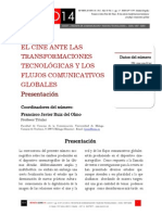 A10/V1. El cine ante las transformaciones tecnológicas y los flujos comunicativos globales. Presentación
