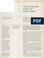 Automobile Crisis and Public Policy