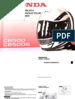 Fahrer-Handbuch - Honda CB 500