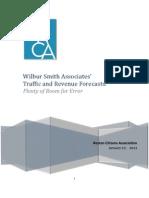 RCA Study--Wilbur Smith Traffic & Revenue Forecasts--012712