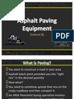 Lec.8. Paving Equipment