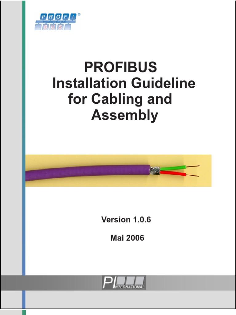 Pleasant Profibus Wiring Guidelines Basic Electronics Wiring Diagram Wiring Cloud Aboleophagdienstapotheekhoekschewaardnl