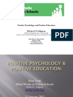 2012 What Works - Martin Seligman - Positive Psychology and Positive Education PowerPoint