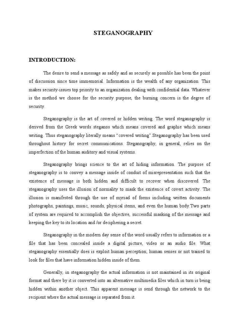 STEGANOGRAPHY | Data Compression | Cryptography