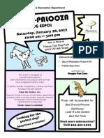 Doggie Palooza Flyer Jan 28