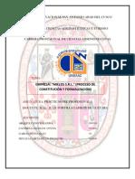 PROCESO DE CONSTITUCION Y FORMALIZACIÓN DE EMPRESA