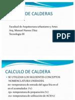 Calculo de Caldera