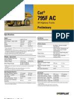 795F - AC Spec Sheet