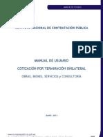 Manual Cotizacion Por Terminacion Unilateral Obras, Bienes, Servicios y Consultoria