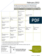 February 2012 Workshop Calendar