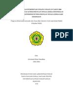 Analisis Kebijakan Pemerintah Undang-undang 39 Tahun 2004